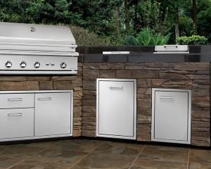 Outdoor Delta Heat grill station.