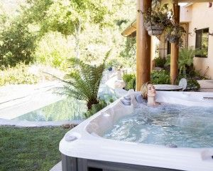 Lady in a Jacuzzi Spa